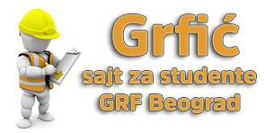 GRFić - Sajt za studente građevinskog fakulteta